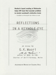 Image for Reflections In A Keyhole Eye