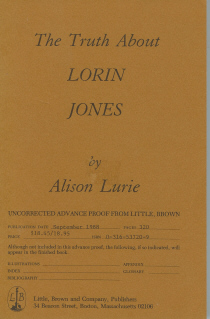 Image for The Truth About Lorin Jones