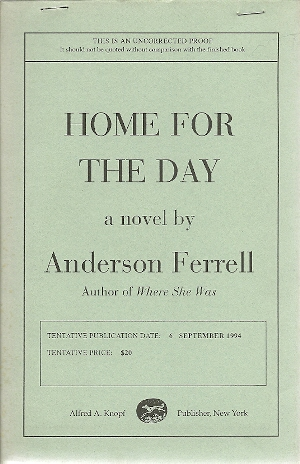Image for Home for the Day: A Novel