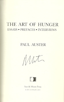 Image for The Art of Hunger: Essays, Prefaces, Interviews