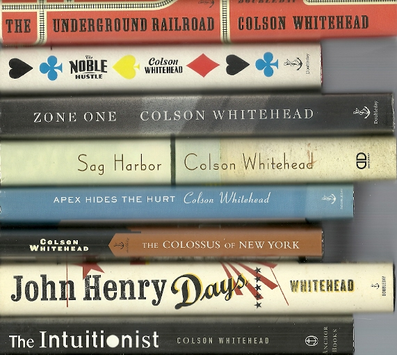 The Intuitionist/John Henry Days/The Colossus of New York/Apex Hides the Hurt/Sag Harbor/Zone One/The Noble Hustle/The Underground Railroad
